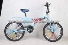20inch bicicleta bmx freestyle, bicicleta bmx con los rayos de colores