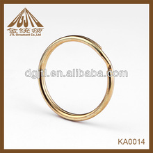 Fashion high quality 25mm gold color round keyring