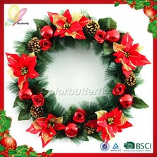 Butterfly Ningbo 2015 China Manufactor Indoor Christmas Decorations Wholesale Christmas Wreath