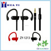 2015newest design high quality sport stereo earhook factory supply flat cable earphone running to enjoy the music