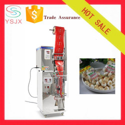 Vertical automatic plastic sachet cotton candy packing machine