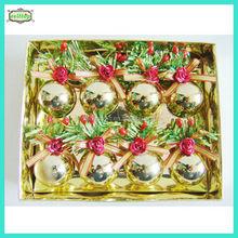 2015 hot sale 4cm plastic christmas ball christmas ornament