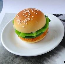 MCH143 HOT Selling NEW design KEYCHAIN Hamburg MIRROR ARTIFICIAL PU KEYRING SQUISHY Hamburger