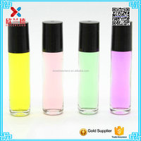 8ml roll on ball bottle with black plastic cap