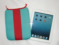 Pink & blue colorful for IPad mini Neoprene Tablet cover Tablet sleeve