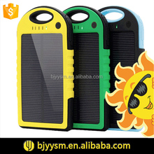2015 new design solar charger 5000mah,waterproof solar power bank for mobilephone