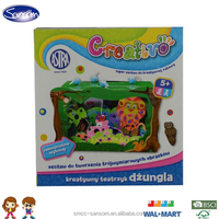 ICTI passed factory Painting kit 3D paper craft DIY toy for children painting craft