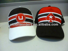 cotton snapback basketball caps polyester at frond with embroidery