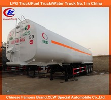 Gasoline/diesel/petroleum/petrol tri axle fuel tanker trailer 45000 liters fuel tank trailer