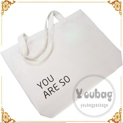wholesale plain white cotton canvas tote bag