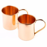New products 100% Pure Copper Mule Mugs with embossed logo,solid pure copper shot glass beer mug,BPA FREE copper moscow mule mug