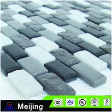 new design black and white brocken ceramic tile