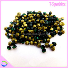 AAA quality point back strass stone , colored glass chaton stone for accessories