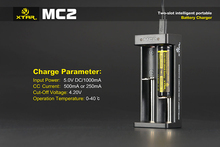 ¡nuevo producto XTAR MC2 2-slot usb <span class=keywords><strong>cargador</strong></span> <span class=keywords><strong>inteligente</strong></span> XTAR <span class=keywords><strong>cargador</strong></span> de batería universal de 18650 li-ion / XTAR mc 2