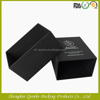 Custom luxury black decorative cardboard drawer packaging gift box