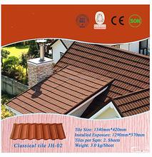 Isolamento térmico de alumínio zinco revestido de pedra telha metálica com certificado CE