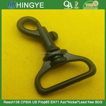 25mm Black Matt Metal Dog Hook For Handbags -- MZ4677