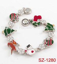 SZ-1280 Factory sale all kinds of Christmas bracelet China wholesale