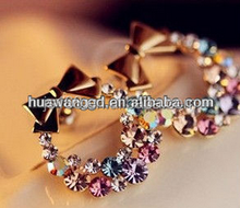 Color diamond & Butterfly fringe earring nail wholesale