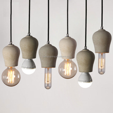 Hot selling new industrial vintage style hanging exclusive cup concrete lamp holder