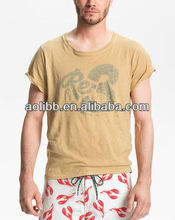 Mens Organic Cotton T-shirt Top Fashion Graphic Tee