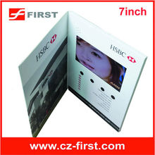 3.5/4.3/5/7/10inch touch screen video card for invitation, greeting, business supplier