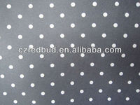 600d 100% polyester small round dot printed fabric for bag