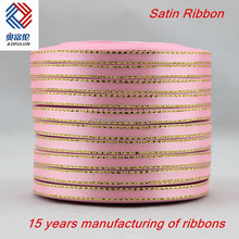 "250 yds solid Golden line ribbon 1/4"" Wedding&campus ribbon"