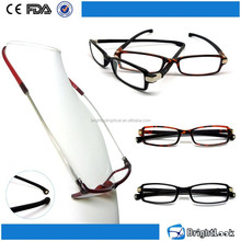 2015 Trendy unisex new style PC frame with temple bottom China wholesale plastic Magnet reading glasses