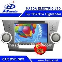 """HT-7006A TOYOTA Highlander Car GPS DVD Car GPS DVDwith 2 din 8"""" TFT LCD"""