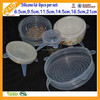 Transparent Silicone Cup Lid Cover Wholesale Keep Fresh FDA&LFGB Approval Set Of 5pcs