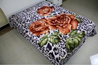 super soft raschel blanket 2 ply flower design