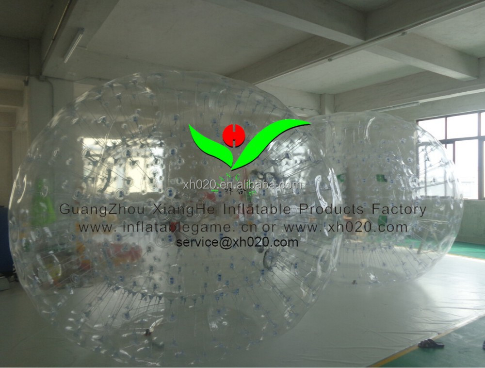 human outdoor games human grass ball 3X2M 1.0MM PVC zorb ball