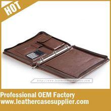 China supplier imitation leather 3 ring padfolio