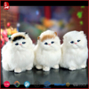 2015 cute and top sale big eyes lifelike cat plush toy as gift for girls
