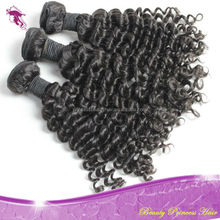 Princessbeauty high quality 10a virgin remy indian hair weaving natural curly and deep wave