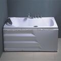 ABS canto interior com banheira de banho para banheiro pequeno