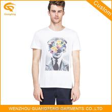 China Supplier White t-Shirt,Men 100% o-Neck Tshirt,Custom Printed 3dt-Shirt