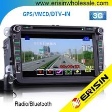 "Erisin ES8015V 8"" 2 Din Car GPS DVD Player 3G PASSAT CC 2009"