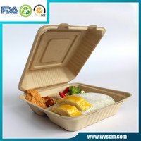 disposable 3-compartment food container