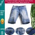 Hombres azules de pierna recta Jeans Casual 100% algodón para venta al por mayor pantalones cortos de mezclilla para hombre