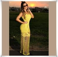 2015 nova moda verao roupas femininas andar de comprimento vestido Casual bainha vestido sem mangas chiffon from OEM supplierC26