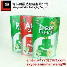 food grade plastic fruit chip vegetable chip bag