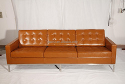 Modern deisgner furniture for living room 1 2 3 seater leather/fabric florence knoll sofa