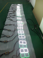 Led display football scoreboard/electronic substitute board/soccer substitution board
