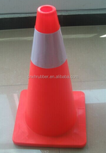 Red PVC Traffic Cones With White Reflective Tape