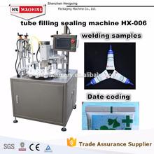 Superior de la venta automática de aluminio tubo de llenado y sellado de la máquina HX-006