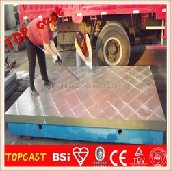 Cast iron surface plate for flatness measuring tools GB/T22095 Heat Treatment milling machine