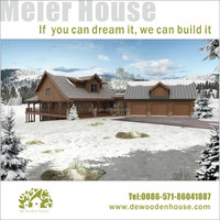 beautiful and warm mountain wooden house with best price/ good price log villa