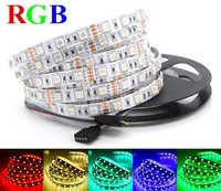 LED strip light single color or RGB 5 meters 300 pcs SMD 5050 IP20 non waterproof DC 12V